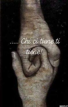 Ti tiene con for a💗 Italian Phrases, Italian Quotes, Tumblr Quotes, Life Quotes, Friend Scrapbook, Italian Language, Jim Morrison, Hello Beautiful, Cool Words