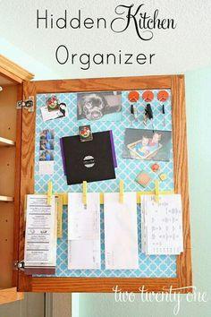 Kitchen organizer magnetic cabinet doors!