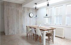 kolor i faktura drewna na ścianie