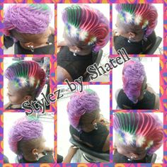 Dare2Bdifferent hair style I go the distance.. my clients aNd i push the envelope find more Facebook;Instagram;Twitter;YouTube @Shatellrivers