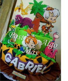 Torta de los picapiedras Bam Bam y Pebbles - Flintstones, Bam Bam and Pebbles Cake