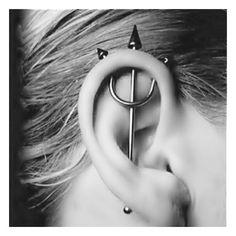 .piercings / #piercings found on Polyvore  looks painful, but its pretty cool.. :)