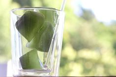 Matcha ice cubes.  For iced-matcha and cocktails. We were talking about making #matcha ice cubes recently and this picture poped up which we are sharing with you. - think Matcha