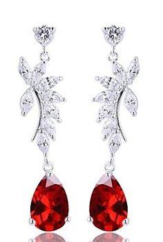 Fine jewelry / karen cox. Sterling Silver Dangle Earrings with Zircon