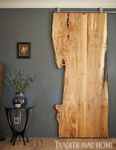 Raw Cut Scrap Wood Sliding Door