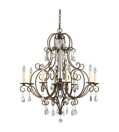 Buy the Murray Feiss Mocha Bronze Direct. Shop for the Murray Feiss Mocha Bronze Chateau Crystal 8 Light Chandelier and save. Kathy Ireland, Bronze Chandelier, Chandelier Lighting, Chandelier Ideas, Crystal Chandeliers, Victorian Chandeliers, Chandelier Makeover, Crystals, Candles