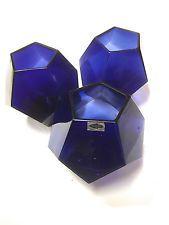 NUUTAJÄRVI Arabia FINLAND OIVA TOIKKA OT38 three blue vases 1969 RARE!