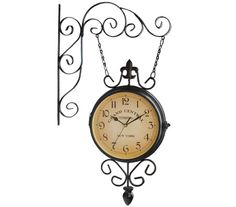 found it at wayfairca round double sided wall hanging clock twinleaf street pinterest hanging clock wall hangings and clocks