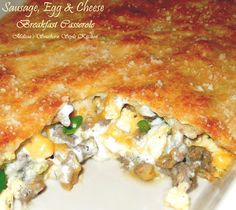 Melissa's Southern Style Kitchen: Sausage, Egg & Cheese Breakfast Casserole