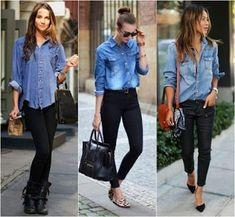 14 Maneras de cómo combinar una camisa de jean ~ Manoslindas.com