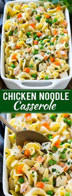 Chicken Noodle Casserole -perfect winter dinner idea.