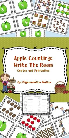 A fun free apple song for kindergarten and pre k t. Kindergarten Centers, Kindergarten Writing, Preschool Math, Kindergarten Classroom, Math Centers, Math Activities, Apple Activities Kindergarten, Kindergarten Apples, Preschool Apples