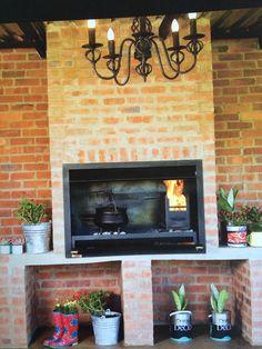 Indoor break currently no cladding to add cladding Indoor Bbq, Outdoor Barbeque, Outdoor Kitchen Cabinets, Outdoor Kitchen Design, Outdoor Kitchens, Modern Outdoor Fireplace, Outdoor Living, Diy Pergola, Pergola Ideas