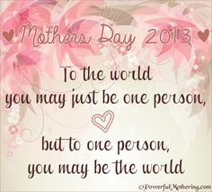 A Mothers Day Thought