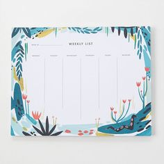 Keep track of plans with this jungle-themed weekly desk pad.