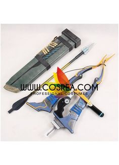 Item Detail Overwatch Hanzo Bow Set Cosplay Prop Includes - Bow Set Bow - 126CM Arrow - 80CM Quiver - 65CM Important Information: Primary Material - EVA, PVC, Light Wood Safety - All props are made wi