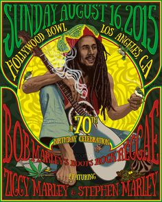 Bob Marley Poster by Rosenfeld on CreativeAllies.com
