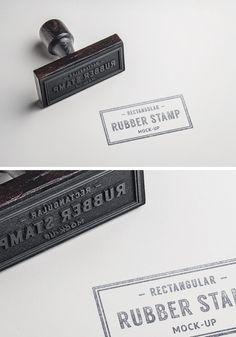 Rubber Stamp PSD MockUp #2 | GraphicBurger
