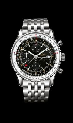 Navitimer World on Steel - Breitling - Instruments for Professionals Old Northeast Jewelers is an authorized dealer for Breitling Timepieces. Please Call 813-875-3935 www.oldnortheastjewelers.com