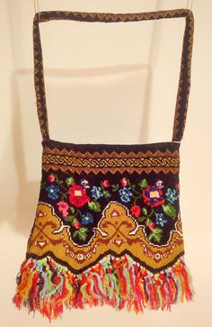 Folkloric Bag  Vintage Embroidered Bag  Bohemian by folkloricbags