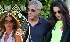 George Clooney, 58, and his fiancee Amal Alamuddin, 36, celebrated their engagement amongst Bono and Cindy Crawford at the supermodel's restaurant Cafe Habana Malibu in Malibu, California on Sunday.