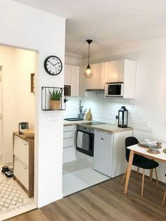 Kitchen Living Rooms Remodeling 51 Awesome Apartment Living Room Decorating Ideas On a Budget Small Apartment Decorating, Kitchen Design Small, Living Room Decor Apartment, Kitchen Living, Apartment Living Room, Living Room Decor On A Budget, Kitchen Room, Apartment Decor, Apartment Kitchen