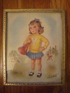 vintage cheerleader print