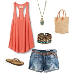 beach shoppin, created by katemitchell1986 on Polyvore
