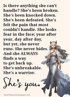 She is Me I'm a strong women that can handle and deal with a lot of bullshit in my life. But I won't let it get to me because that's a chapter in my life that's left behind me. I'm moving forward with my life. Quotes To Live By, Me Quotes, Motivational Quotes, Inspirational Quotes, Random Quotes, Queen Quotes, Rose Hill Designs, Best Friendship Quotes, Warrior Quotes