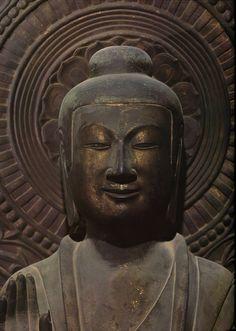 Bhaisajyaguru (buddha able to cure all ills). Horyu-ji Temple. Nara Japan. Made 607.