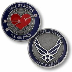I love my airman coin - Help Us Salute Our Veterans by supporting their businesses at www.VeteransDirectory.com, Post Jobs and Hire Veterans VIA www.HireAVeteran.com Repin and Link URLs