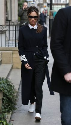 Victoria Beckham's gorgeous outfit and white kicks during London Fashion Week as she tells the Telegraph she can't wear heels anymore|Lainey Gossip Entertainment Update