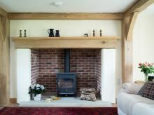 Gallery   Clearview Stoves Clearview Stoves, Inglenook Fireplace, Fireplace Ideas, Fireplaces, Border Oak, Oak Frame House, Cottage Interiors, Living Room Decor, Dining Room