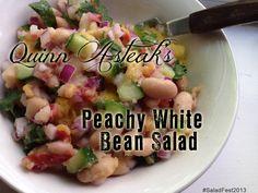 Quinn Asteak's Peachy White Bean Salad #SaladFest2013
