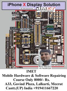 IMET Mobile Repairing Institute IMET Mobile Repairing Course: IPhone X Display Problem Solution Jumper Ways