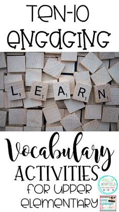 10 Engaging Vocabulary Activities