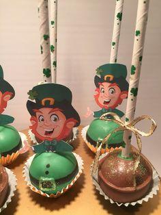 St. Patrick's Day cake pops.