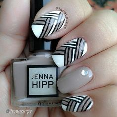 "What a pretty pattern by @jhoanzings using #JennaHipp ""Oh La Latte""  #5free #nailpolish from #Costco @beautysmostwanted #costcobeauty"