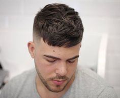 49 Cool Short Hairstyles + Haircuts For Men Mens Crop Haircut, Mens Haircuts Short Hair, Mens Medium Length Hairstyles, Cool Short Hairstyles, Girl Haircuts, Hairstyles Haircuts, Short Hair Cuts, Stylish Hairstyles, School Hairstyles