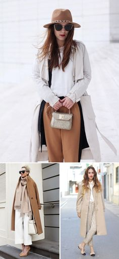 neutral winter outfits + street style via Anne Sage