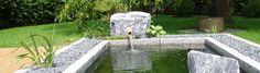 Baumann Kleines Wasserbecken im asiatischen Stil. Kontakt...