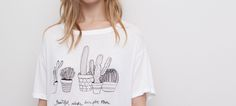 PRINTED T-SHIRT - T-SHIRTS AND TOPS - WOMAN - PULL&BEAR Turkey