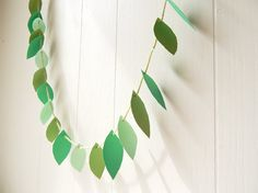 Vine Garland    This earth friendly, recyclable, reusable, cotton and sustainably forested paper garland is the perfect accent to any Earth Day