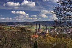Gelnhausen und Blick ins Kinzigtal - gesehen vom Bergschlößchen