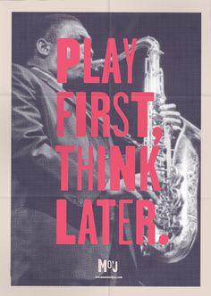 Play first, think later » Musée du Jazz de la  Nouvelle-Orléans #yeah