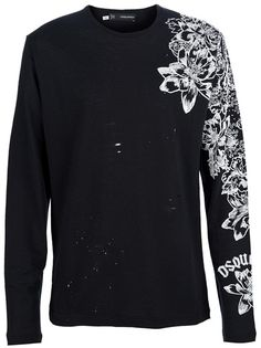 Dsquared2 Textured Floral T-Shirt