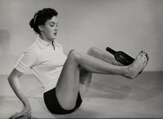 vintage everyday: Exercise Routine Involving Bottle