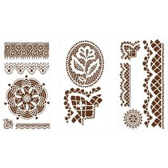 Martha Stewart Crafts Cathedral Lace Laser-Cut Stencils-32265 at The Home Depot