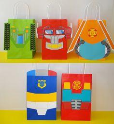 PRINTABLE Transformers Rescue Bots Birthday by CreativePartyStudio