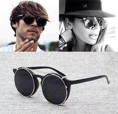 d43e2357a98 Sunglasses. JackJad 2018 Men s New Fashion Vintage Round SteamPunk Style  Sunglasses Double Layer Clamshell Design Sun Glasses Oculos De Sol